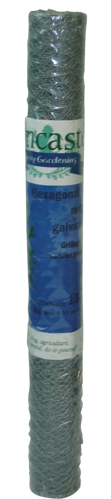 Grillage triple torsion galvanisé Cavatorta - Longueur 2,5 m - Hauteur 0,5 m - Maille 25 mm