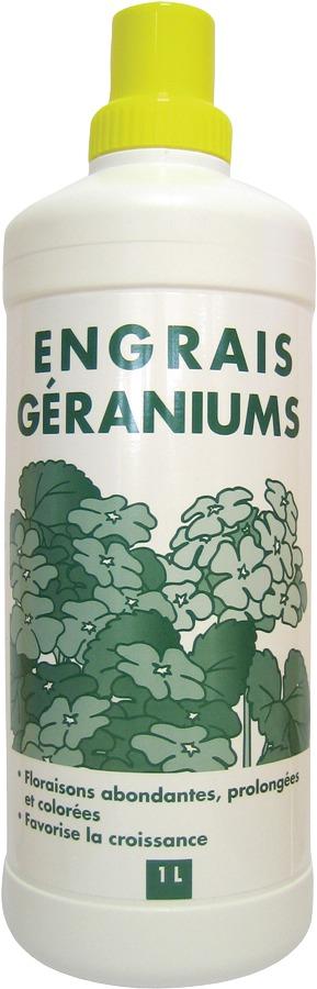 Engrais géraniums liquide Florendi - Bouteille 1 l