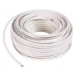 Câble télévision - Couronne 25 m - Blanc