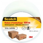 Adhésif transparent emballage une face multi-usage scotch 3M - Longueur 100 m - Largeur 48 mm