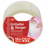 Adhésif transparent Emballer et ranger Pack XXL Daisif - Longueur 100 m
