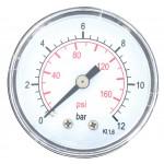 Manomètre 12 bar Cap Vert - Axial