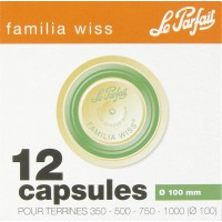 Capsule pour terrine Familia Wiss Le Parfait - Verte - Diamètre 100 mm - Vendu par 12