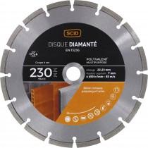 Disque diamanté polyvalent SCID - Diamètre 230 mm