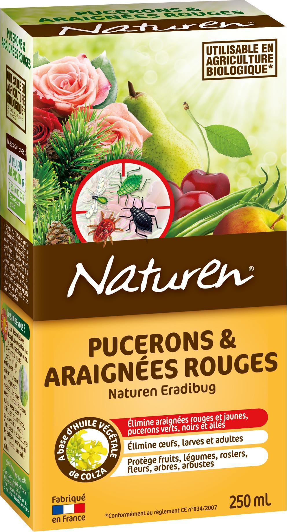 Pucerons et araignées rouges concentré Naturen - 250 ml