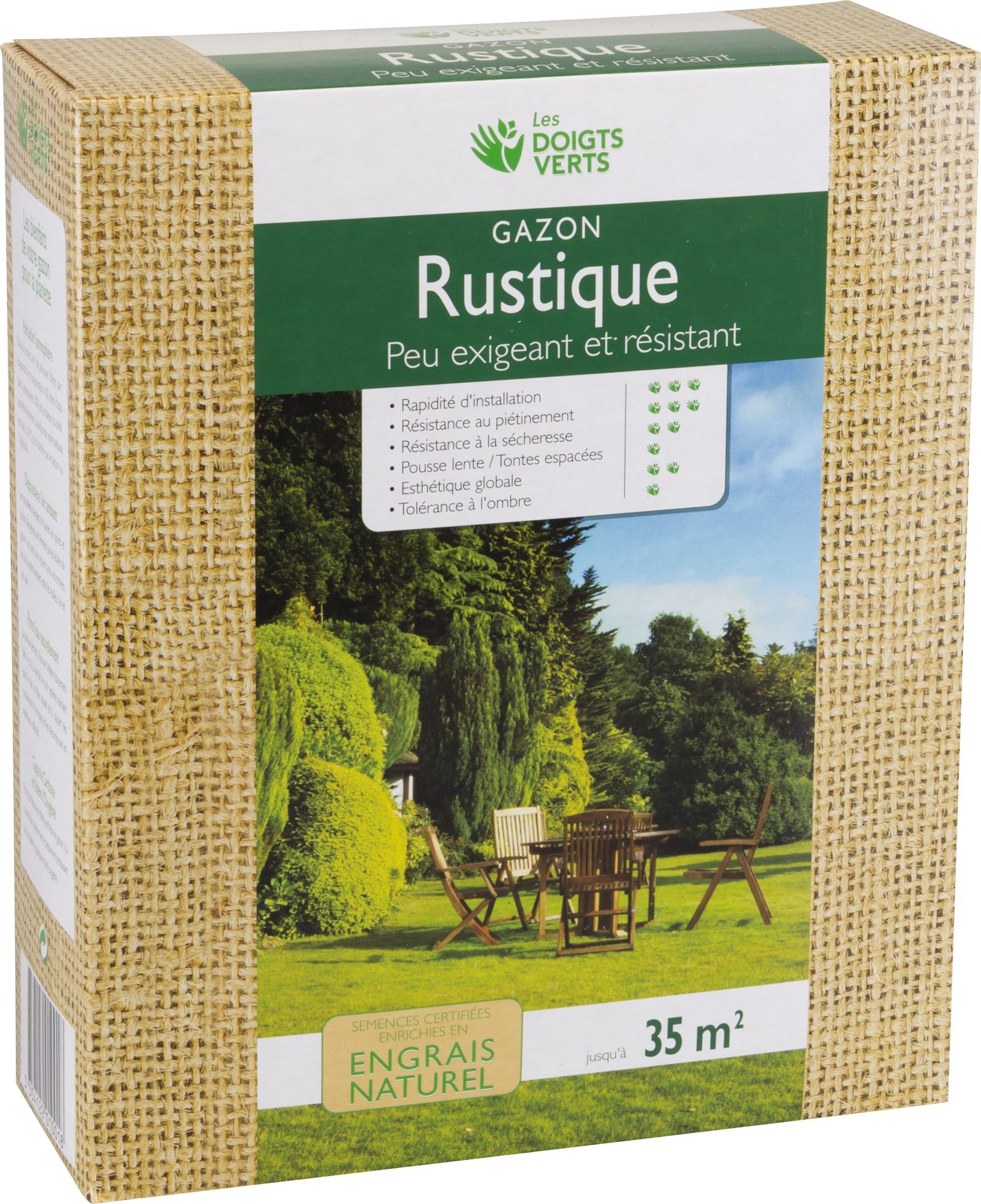 Gazon rustique enrichi Les doigts verts - 1 kg