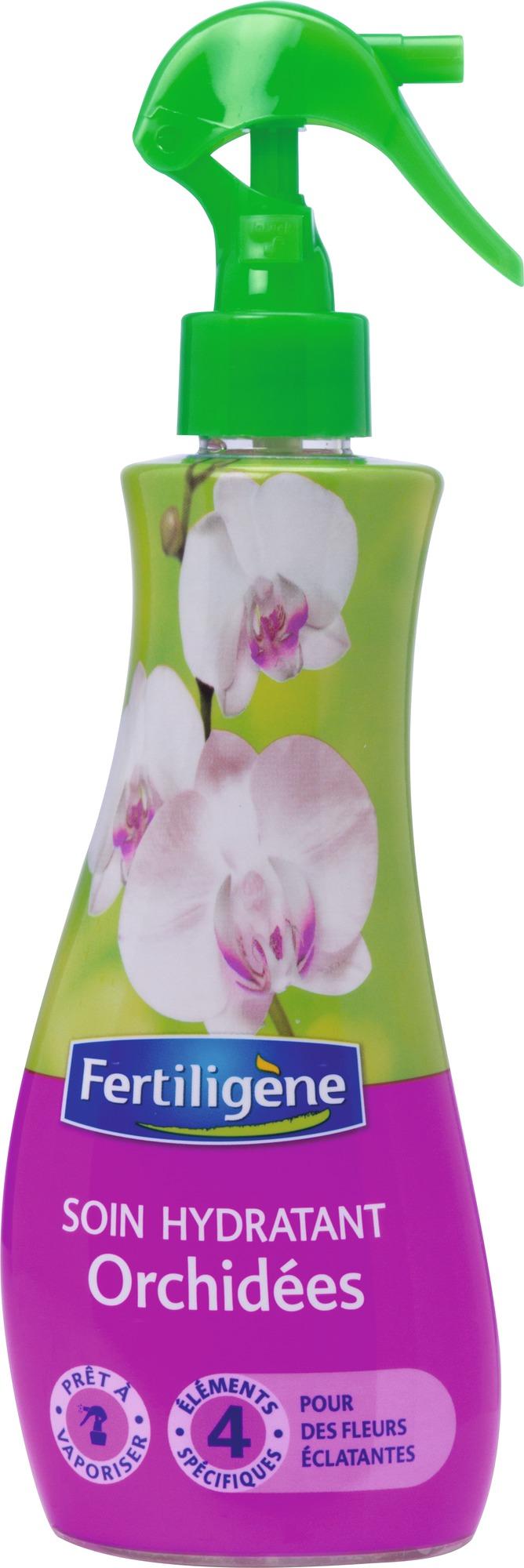 Soin hydratant engrais Orchidées Fertiligène - 230 ml