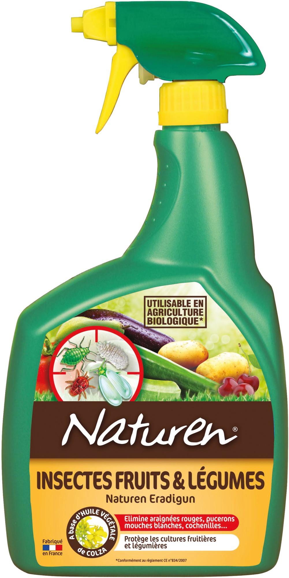 Insecticide fruit et légumes prêt à l'emploi Naturen - Pulvérisateur 800 ml