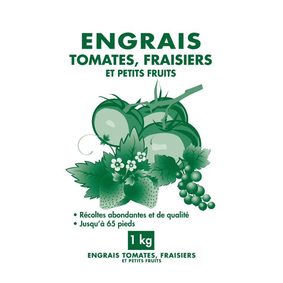 Engrais tomates et fraisiers granulés Florendi - Sac 1 kg
