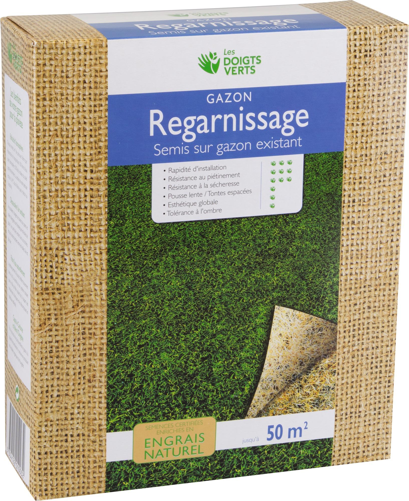 Gazon regarnissage enrichi Les doigts verts - 1 kg