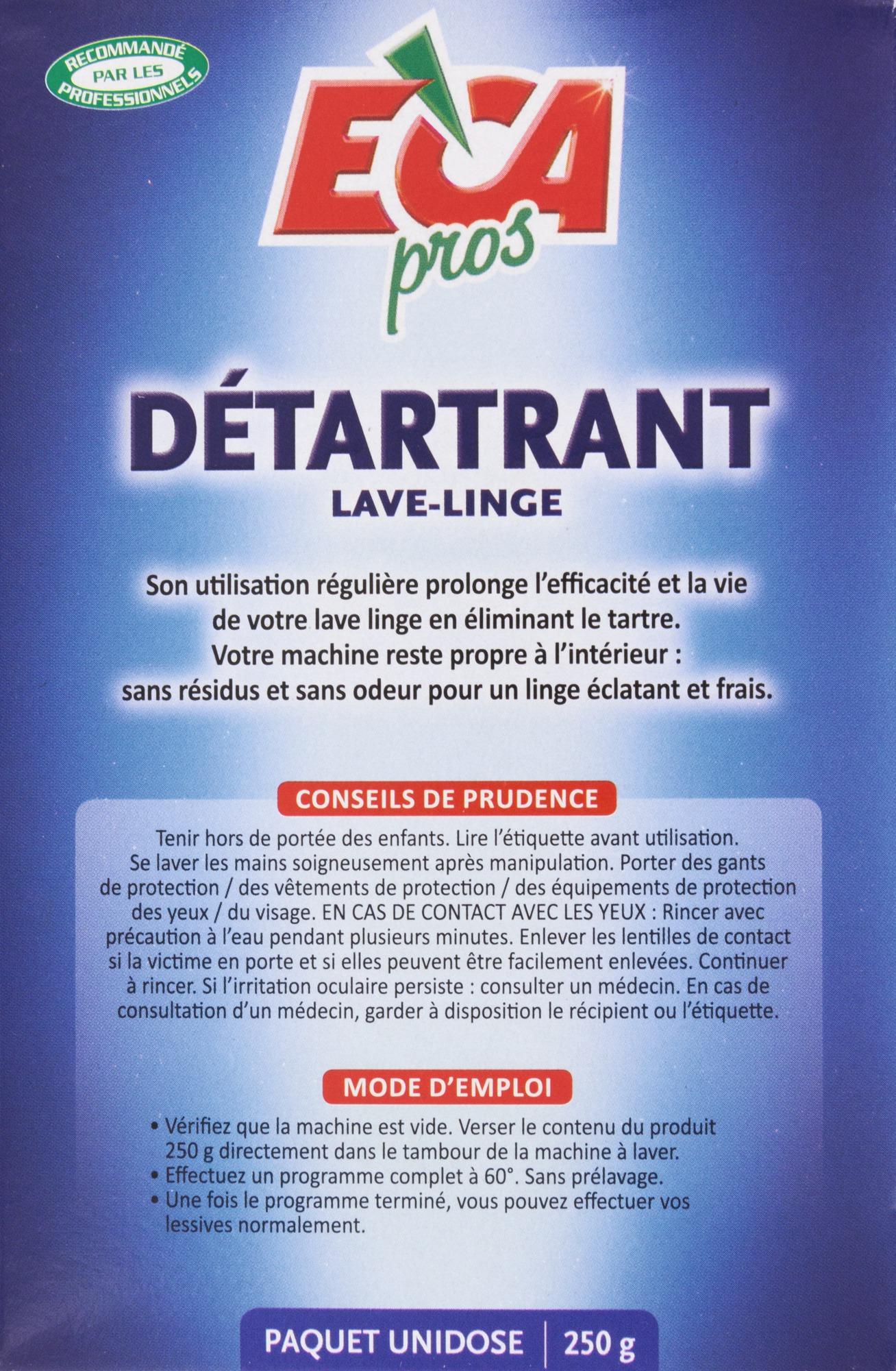 Détartrant lave-linge Eca pros - Boîte 36 g de Détartrant 36 ... - Produit Pour Nettoyer Lave Linge