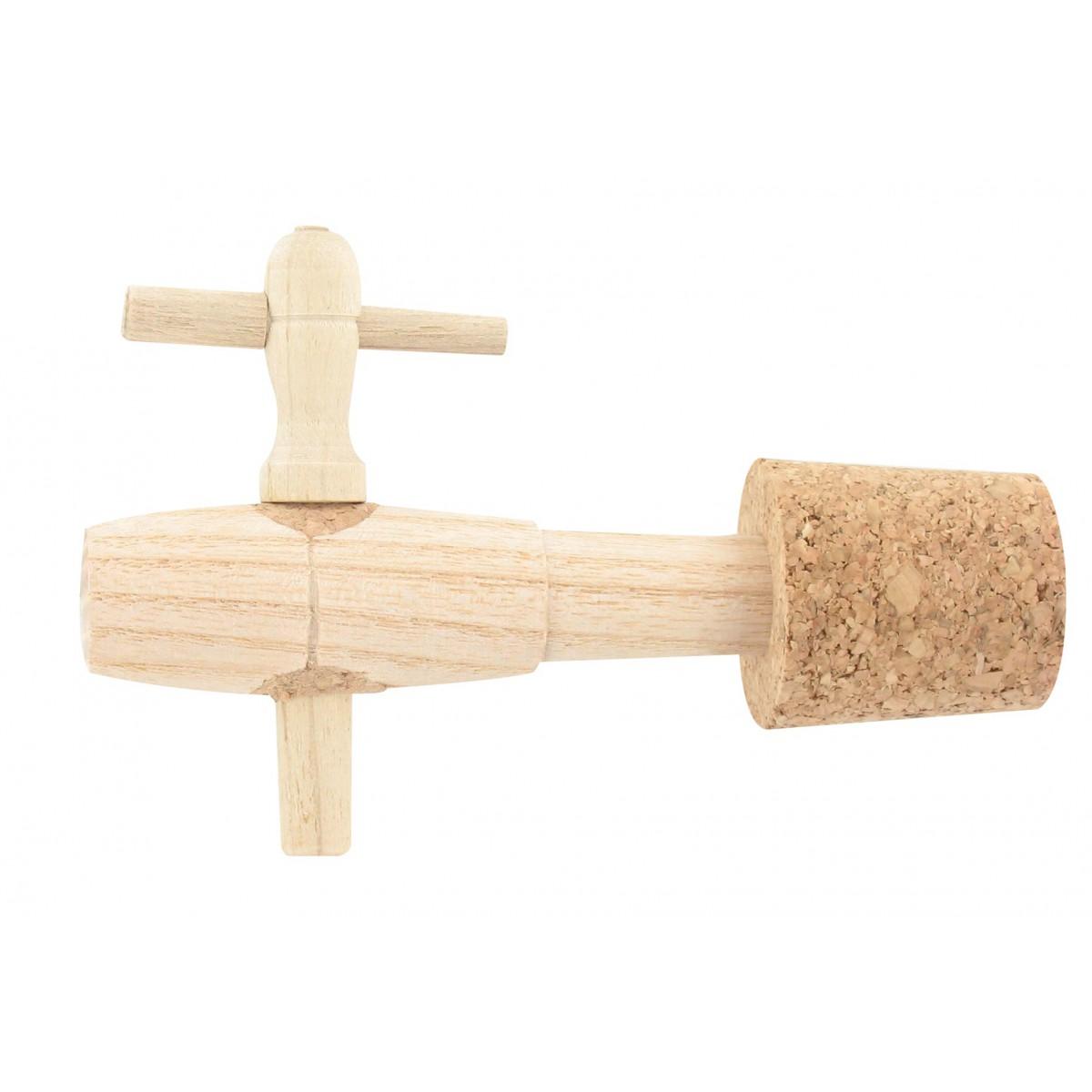 Robinet bois acacia pour vinaigrier Duhallé - 4 pouces