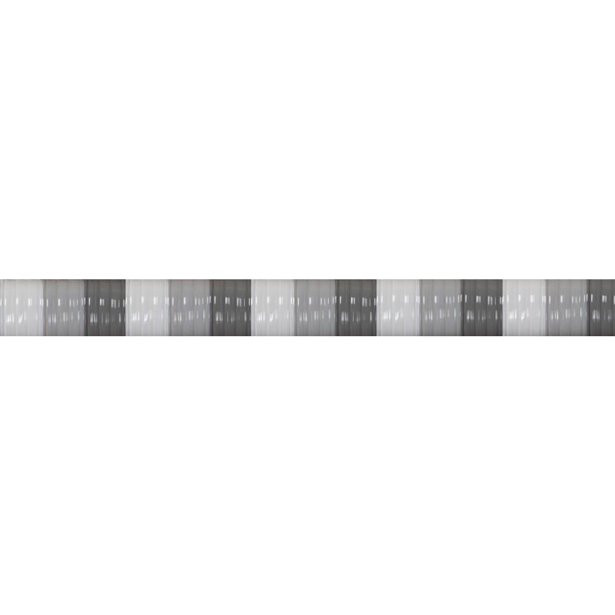 Rideau lanières Antilles gris et blanc Morel - Largeur 90 cm