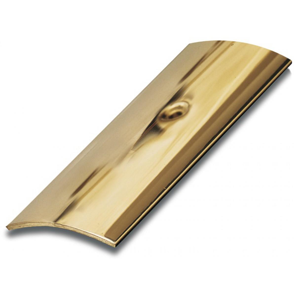 Bande de seuil adhésive laiton poli Dinac - Longueur 93 cm - Largeur 30 mm