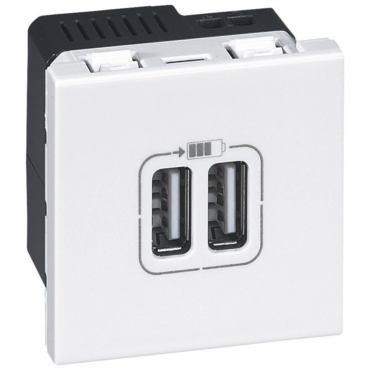 Prise double USB 2400 mA Legrand - Mosaïc - 2 modules
