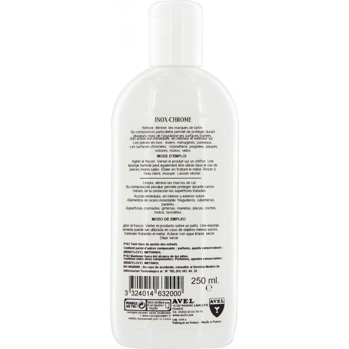 Nettoyant inox Avel - Flacon 250 ml