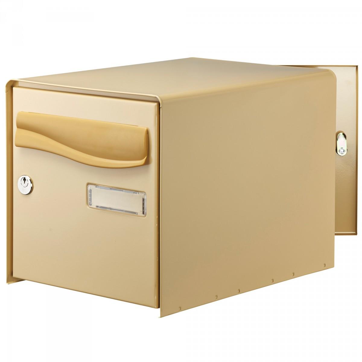 Boîte aux lettres à ouverture totale R-Box Lys Decayeux - Double face - Beige