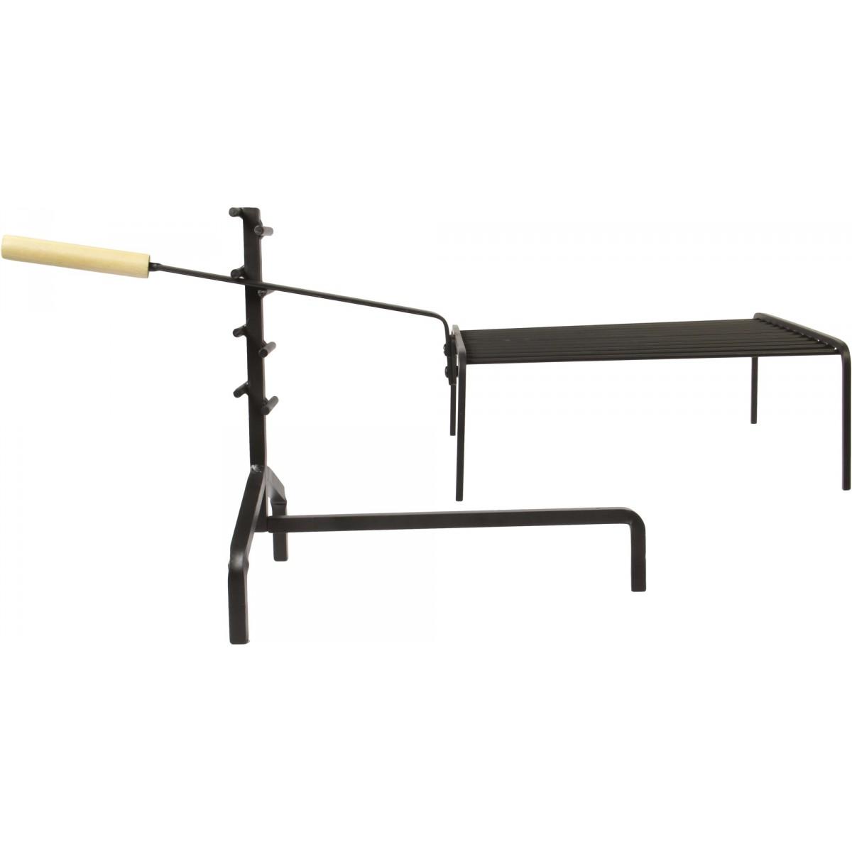 Support crémaillère avec grille PVM - Hauteur 36 cm