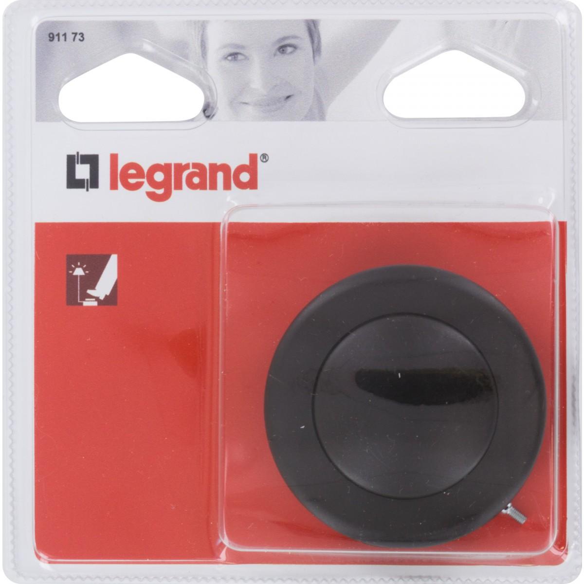 Interrupteur commande à pied Legrand - Noir