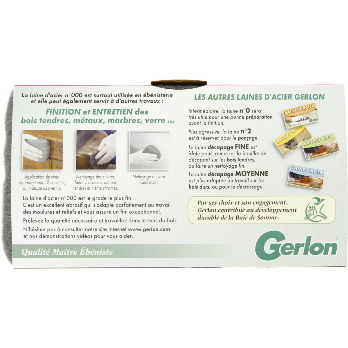 Laine d'acier Gerlon - n°000 - Etui de 200 g