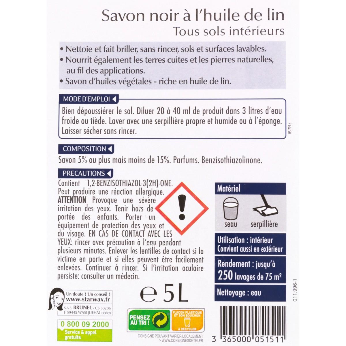 Savon noir Starwax - Bidon 5 l