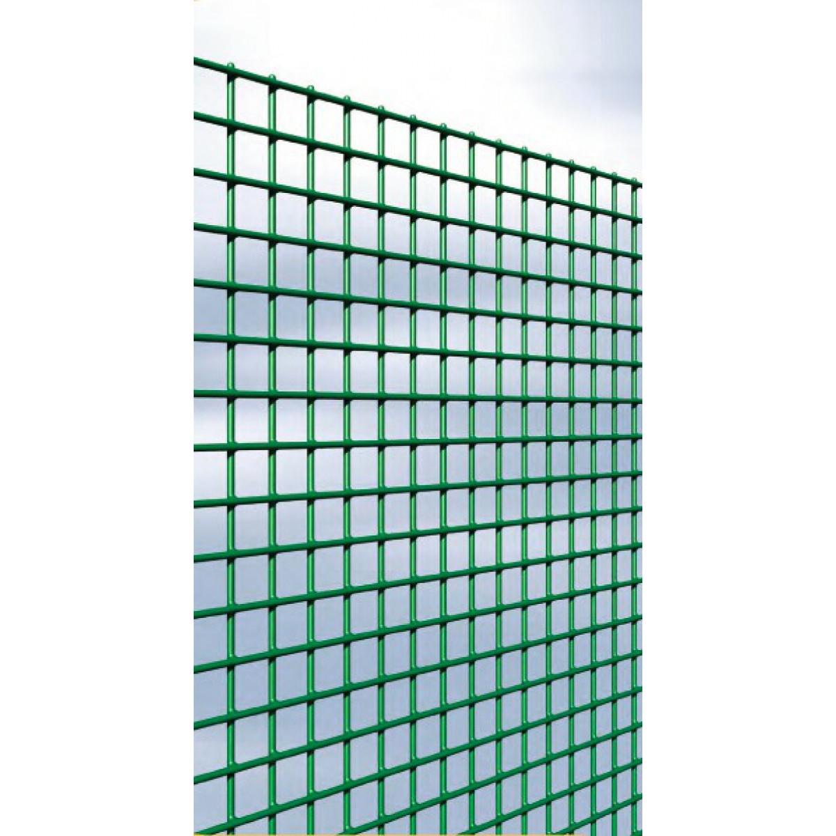 Grillage maille carrée plastifié Cavatorta - Longueur 5 m - Hauteur 1 m - Maille 13 mm