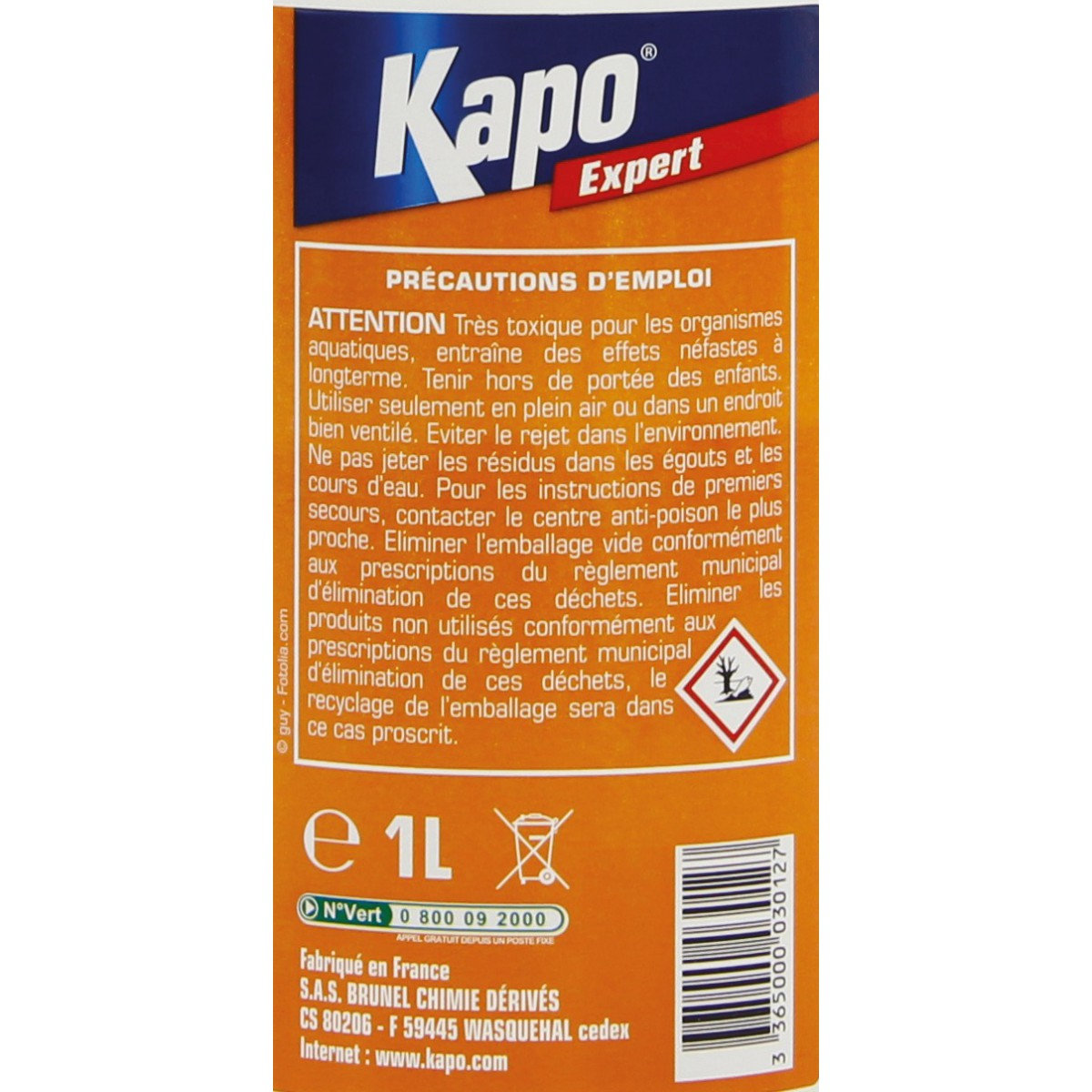Repouss'insectes Kapo Expert - Pulvérisateur 1 l
