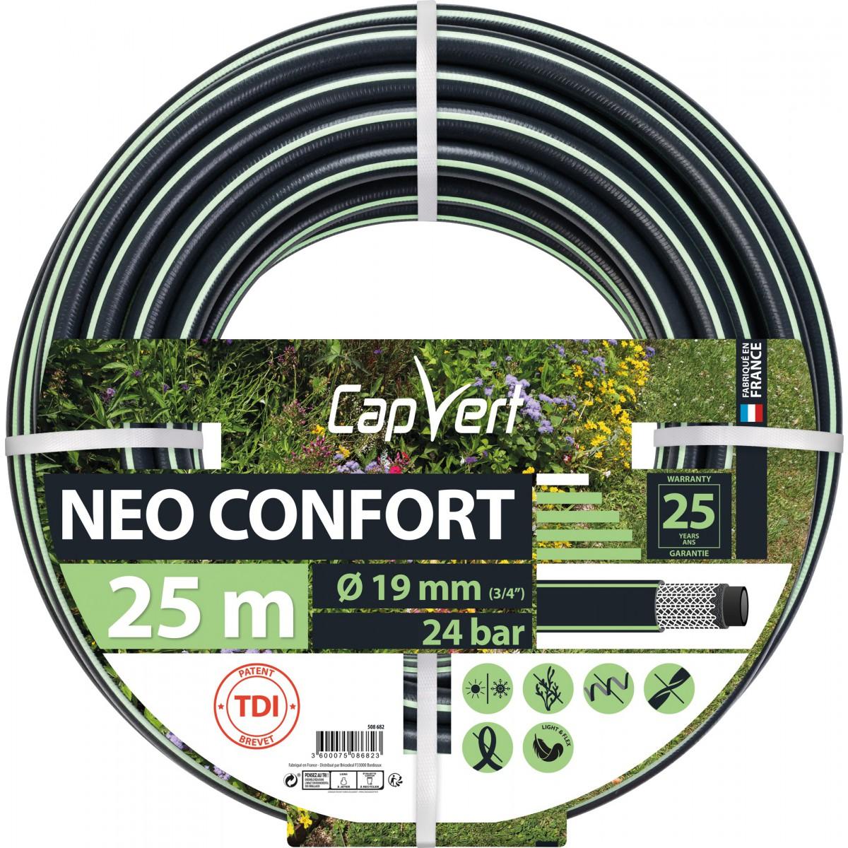 Tuyau d'arrosage Néo Confort Cap Vert - Diamètre 19 mm - Longueur 25 m