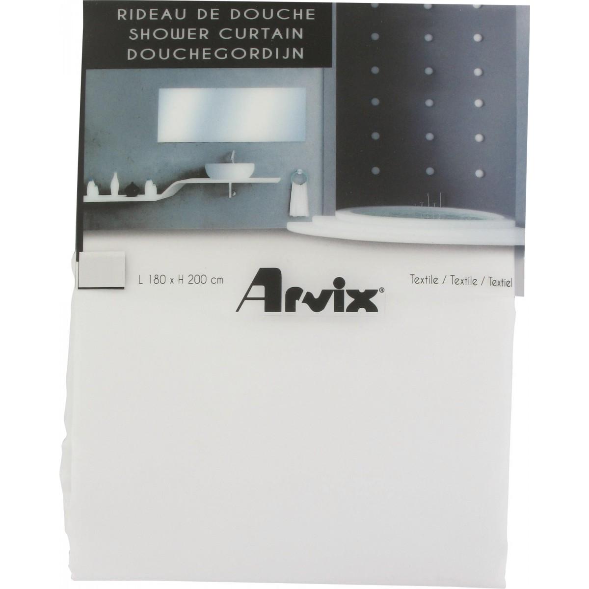 Rideau textile Arvix - Blanc - Longueur 180 cm - Hauteur 200 cm