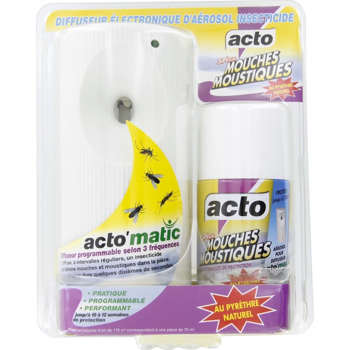 Diffuseur électrique d'insecticide pour mouches et moustiques Acto