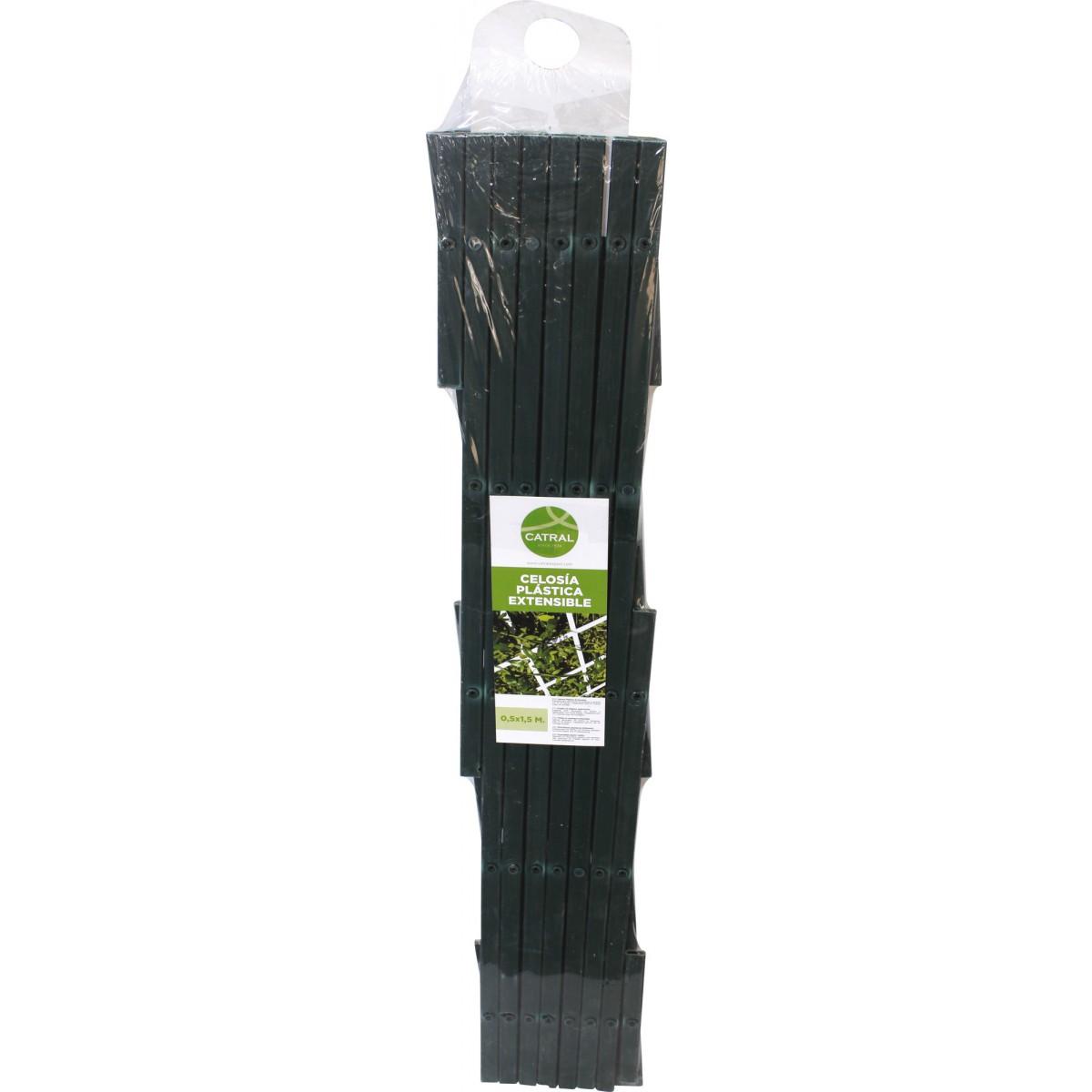 Treillis PVC extensible Catral - Vert - Longueur 3 m - Hauteur 1 m