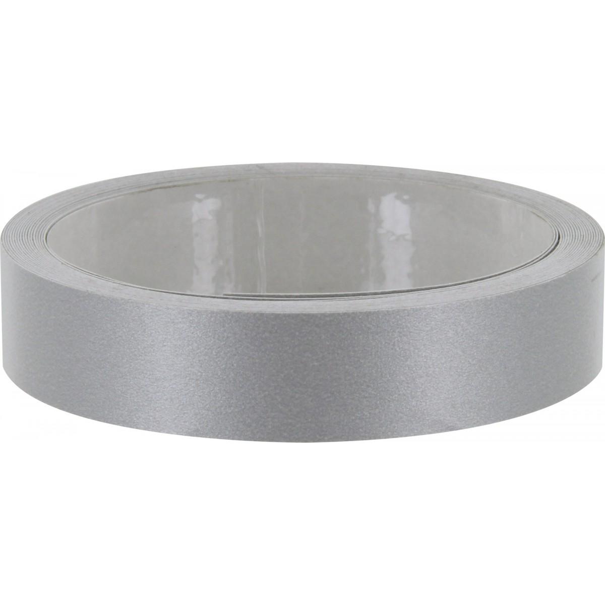 Chant mélaminé auto-adhésif Nordlinger - Aluminium - Longueur 5 m - Largeur 19 mm
