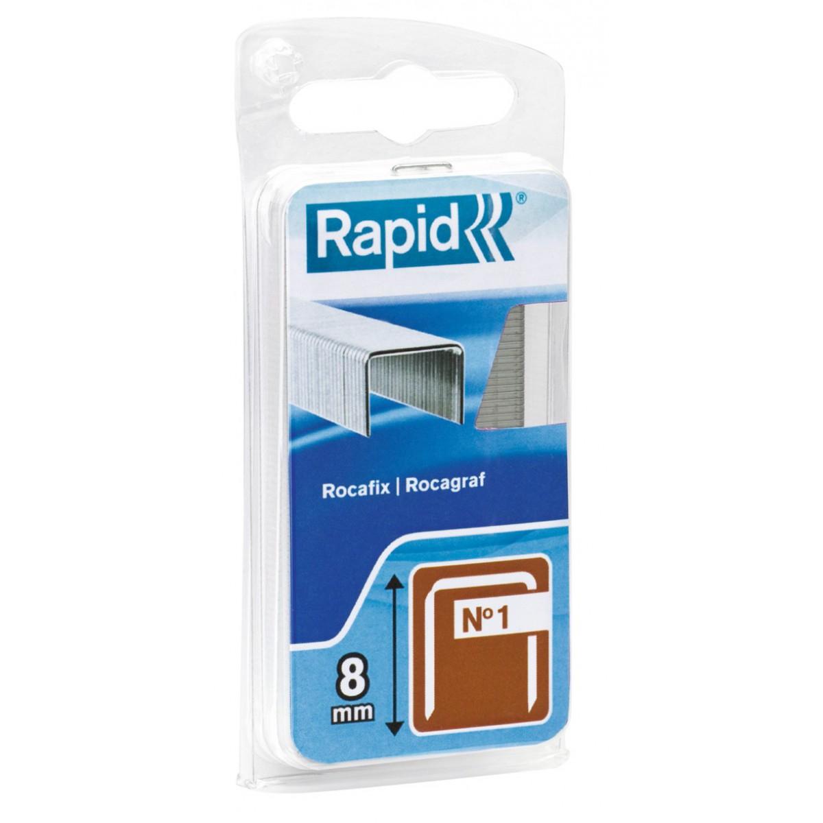 Agrafe n°1 Rapid Agraf - Hauteur 8 mm - 860 agrafes