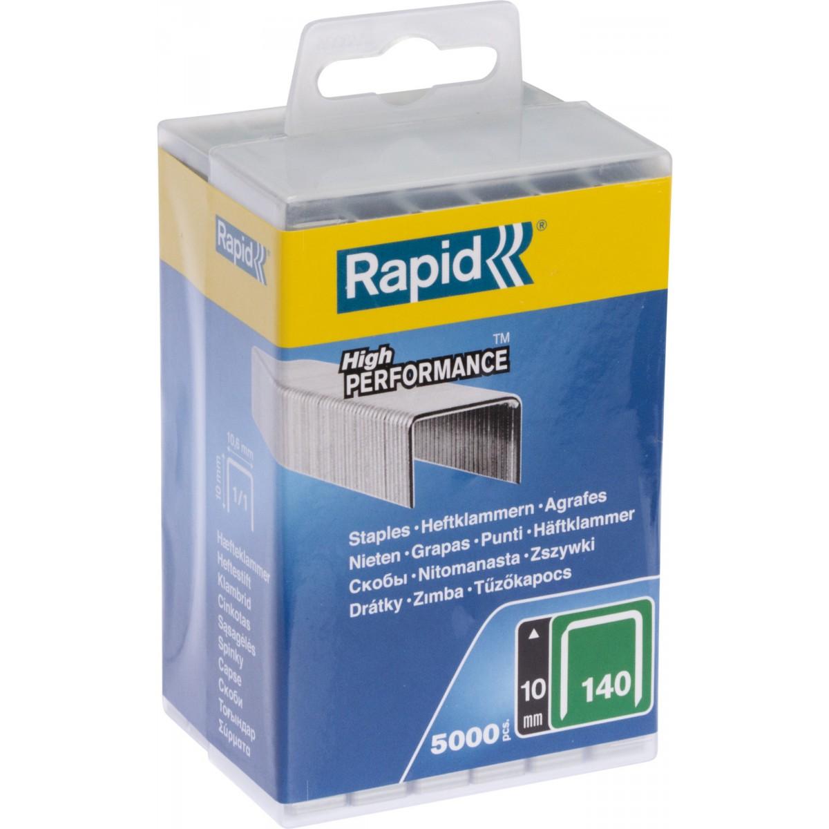 Agrafe n°140 Rapid Agraf - Hauteur 10 mm - 5000 agrafes