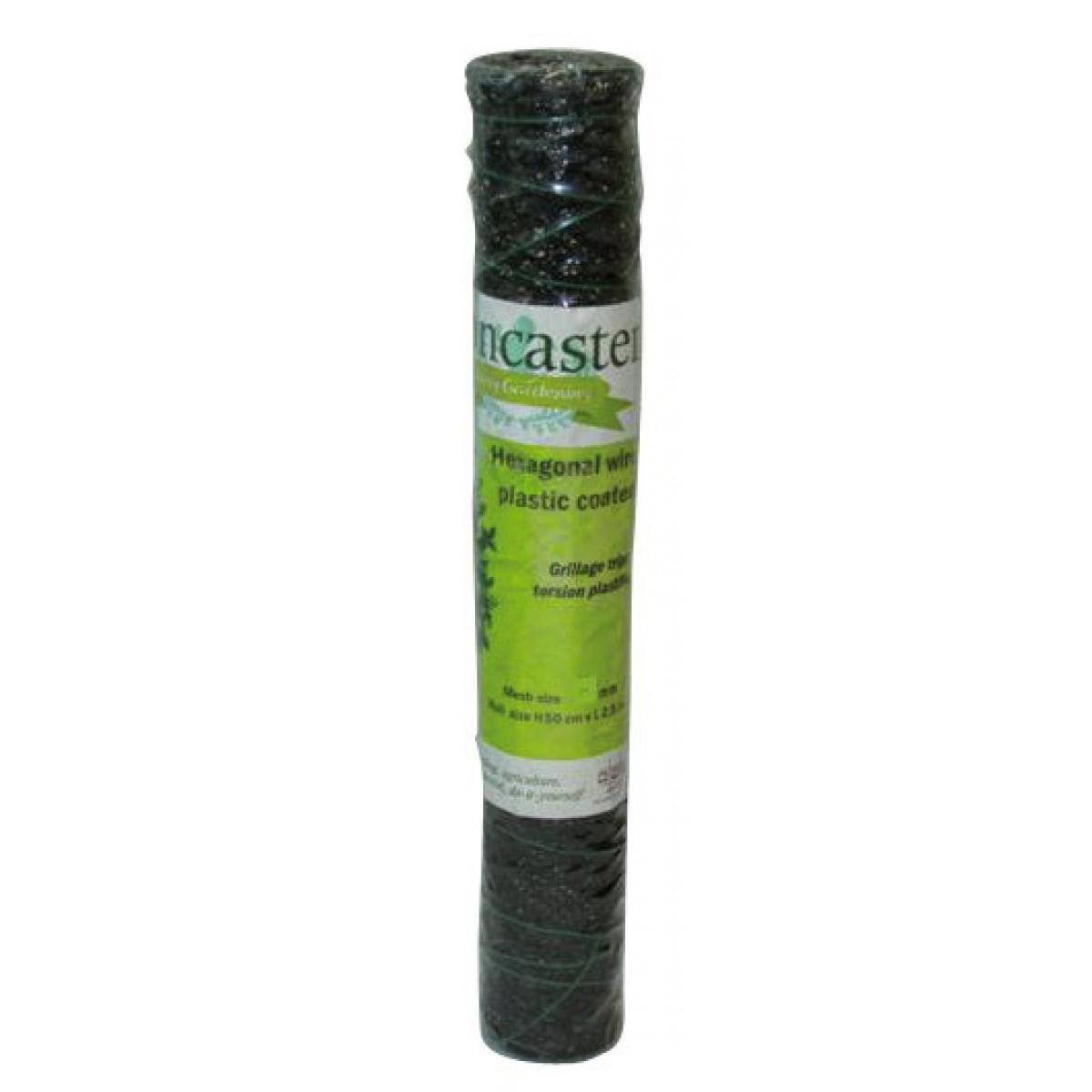 Grillage triple torsion plastifié Cavatorta - Longueur 10 m - Hauteur 0,5 m - Maille 13 mm