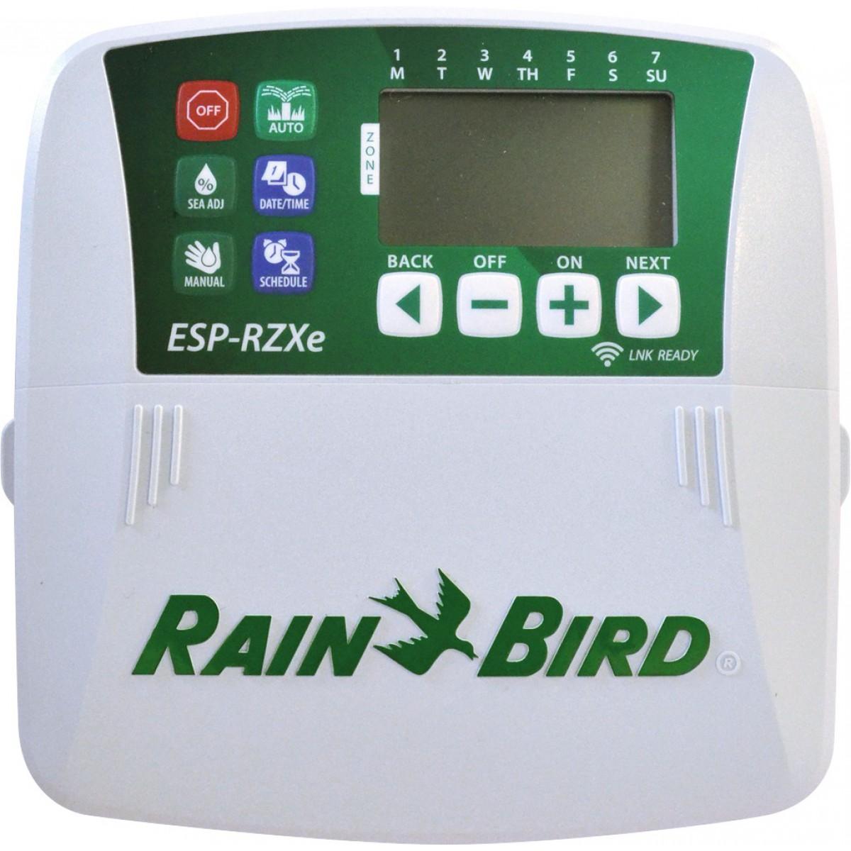 Programmateur d'arrosage résidentiel série ESP-RZXe Rain Bird - 8 voies
