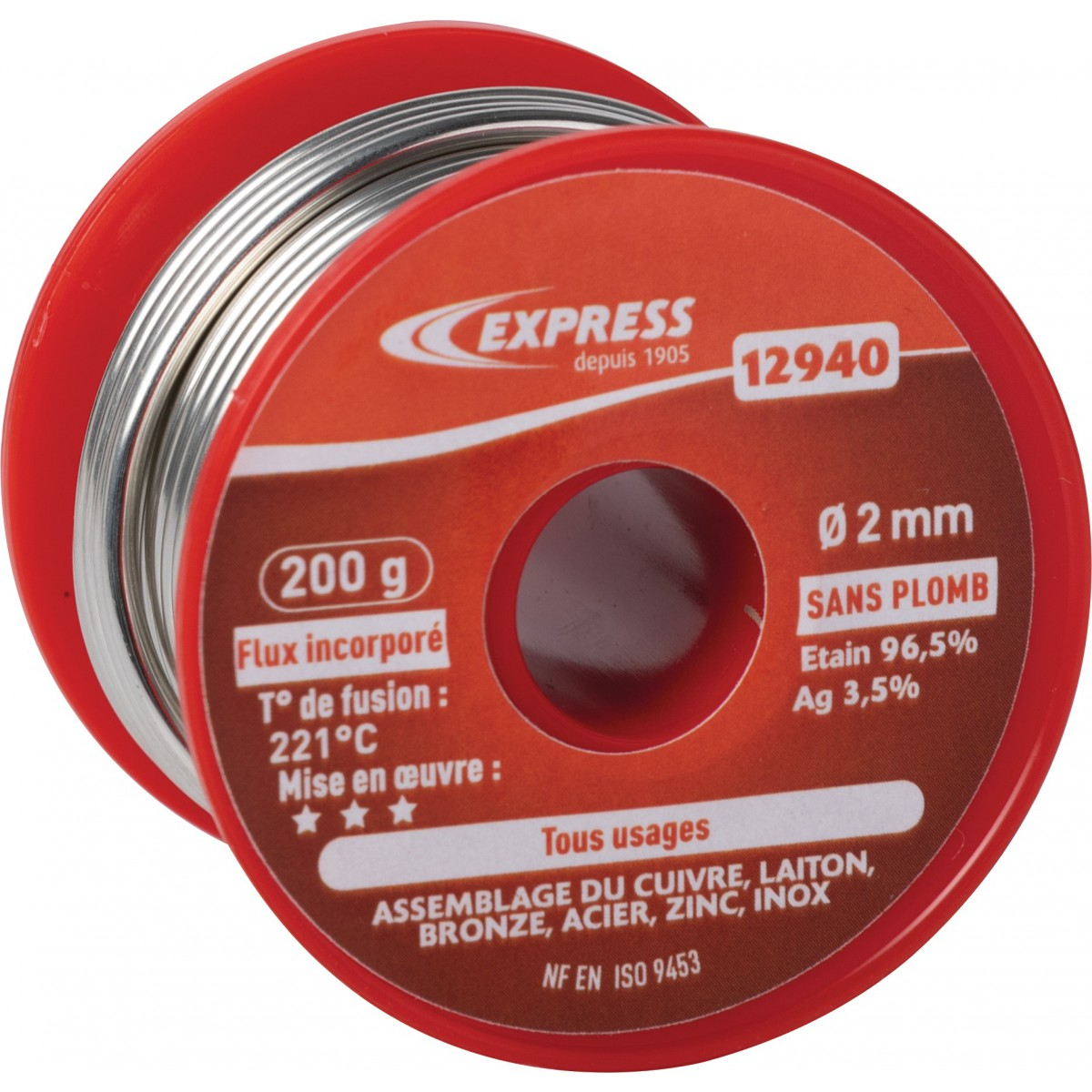 Soudure étain bobine Express - Tout usage - 200 g