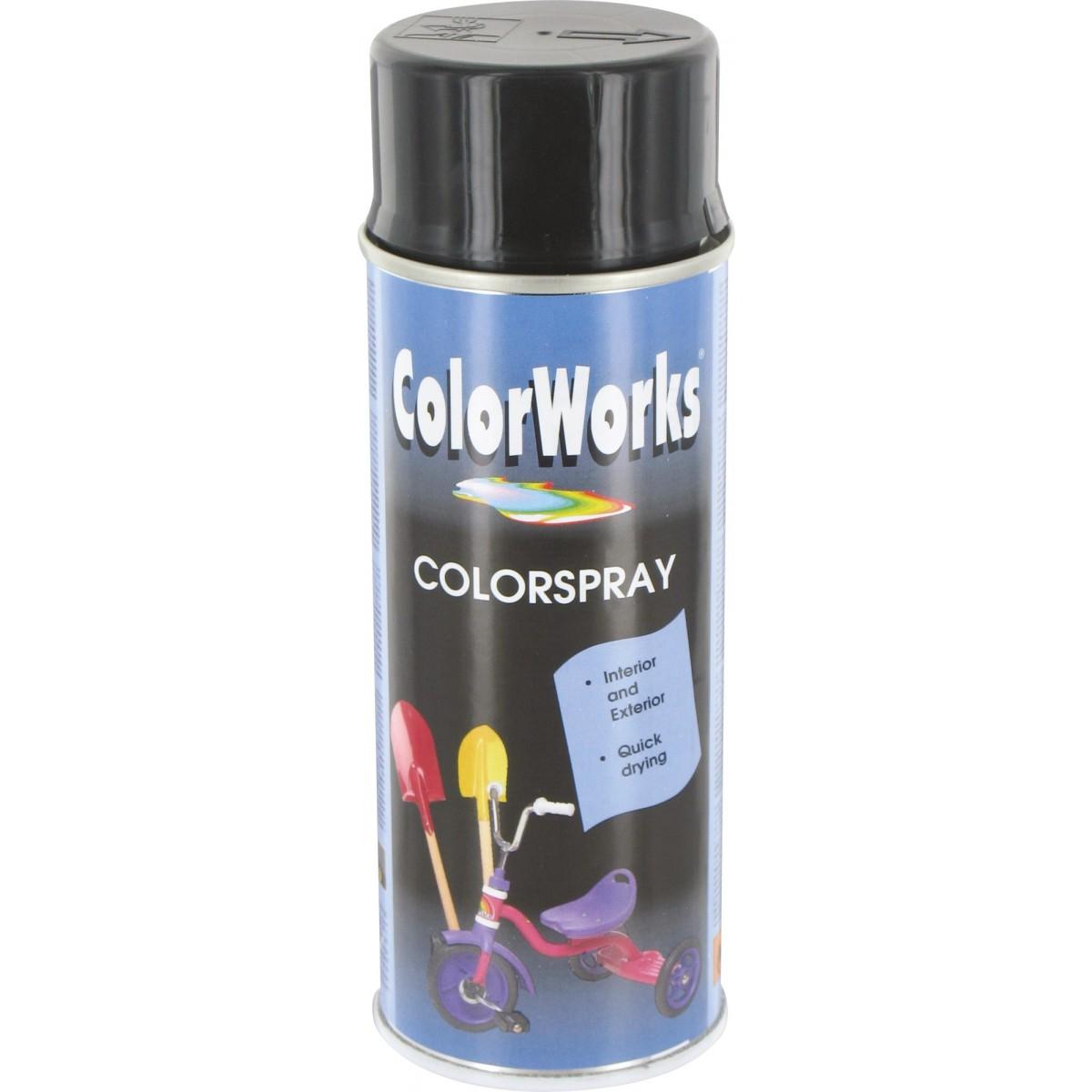 Peinture brillante Colorworks - Noir profond