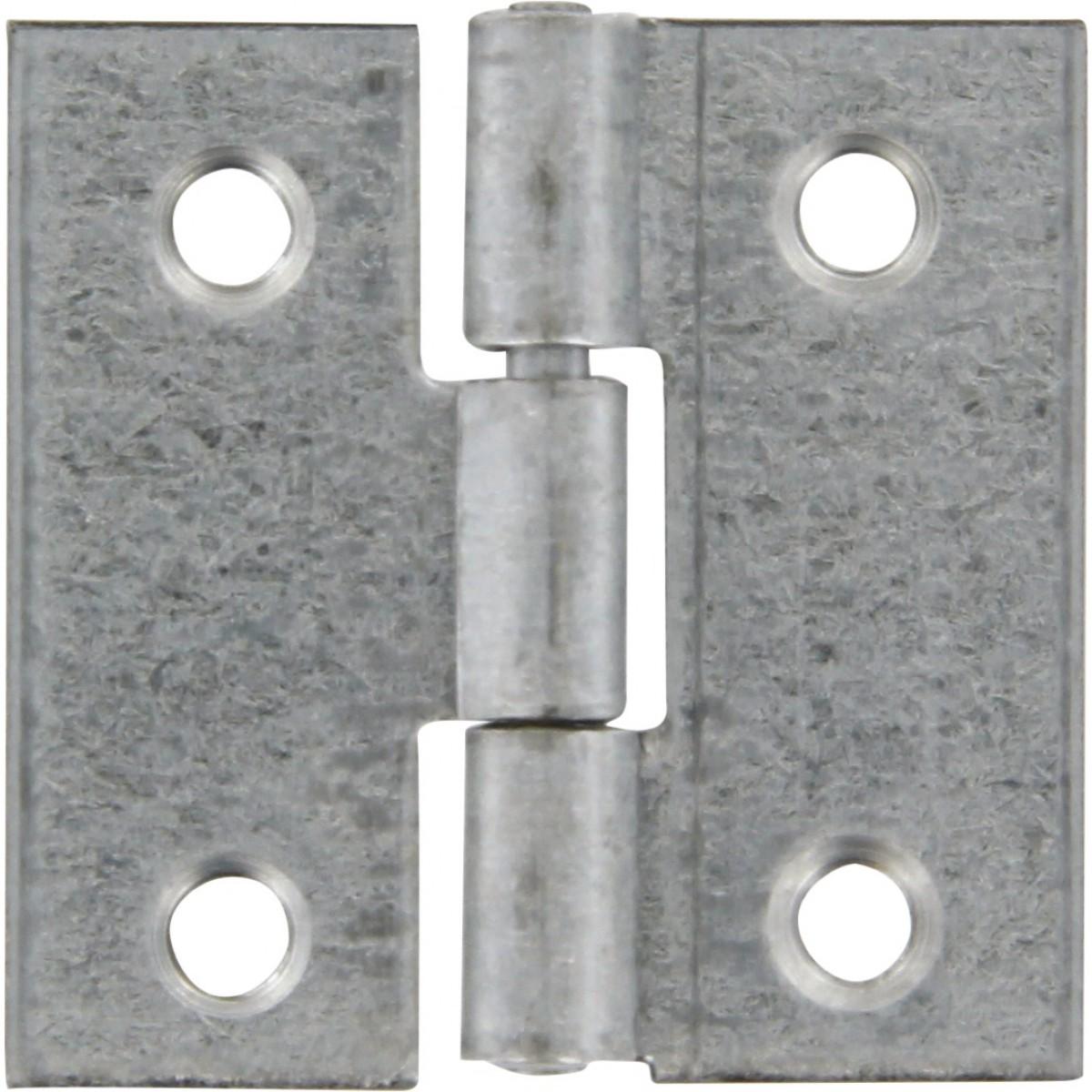 Charnière carrée fer zingué Strauss Vonderweidt - Hauteur 30 mm - Largeur 30 mm - Vendu par 2