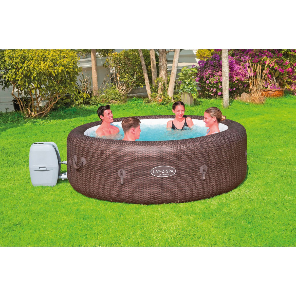 Spa gonflable rond Lay-Z-Spa® St Moritz Bestway - 5 / 7 places - 216 x 71 cm
