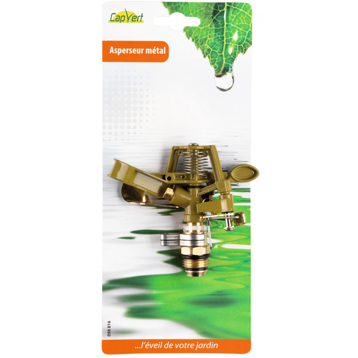 Asperseur métal Cap Vert - Filetage Mâle 15 x 21 mm