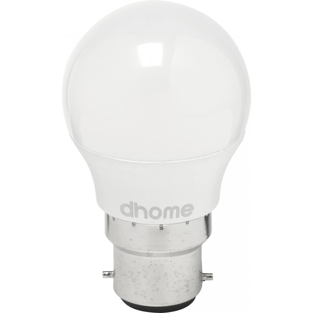 Ampoule LED sphérique B22 dhome - 470 Lumens - 5 W - 2700 K