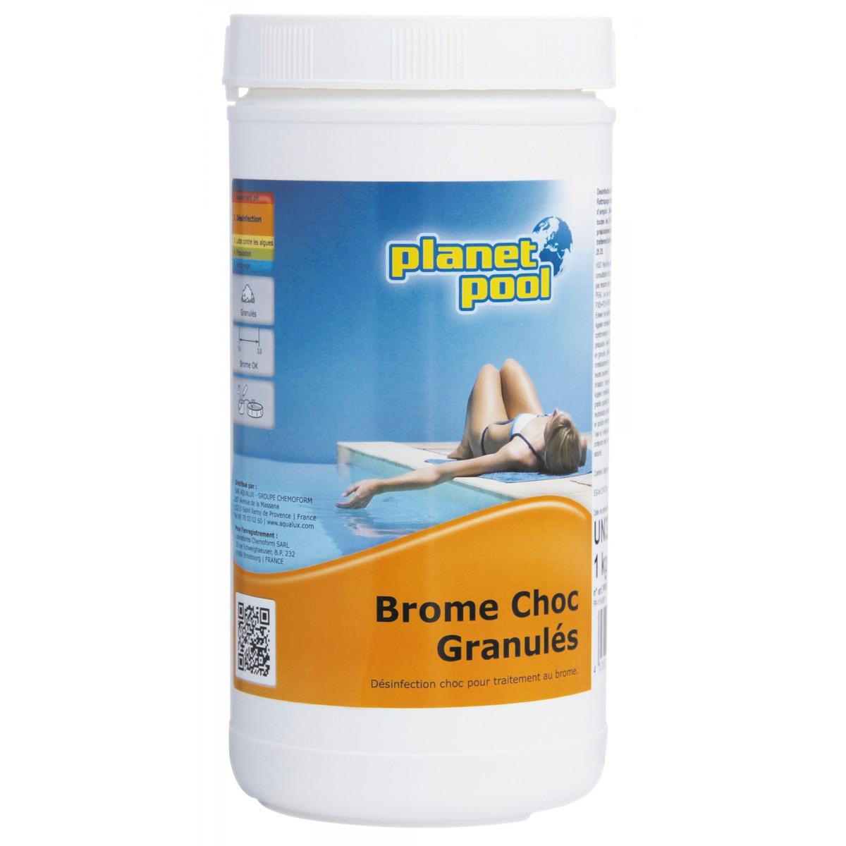 Granulés brome choc Planet Pool - Poids 1 kg