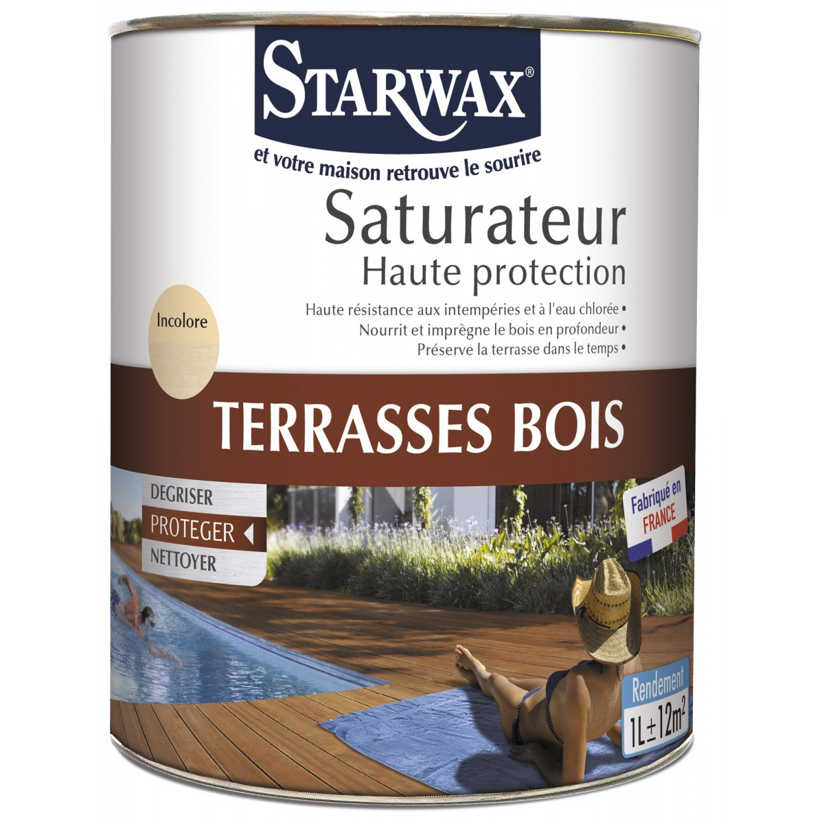 protection terrasses bois starwax bo te 1 l de saturateur 1066100 mon magasin g n ral. Black Bedroom Furniture Sets. Home Design Ideas