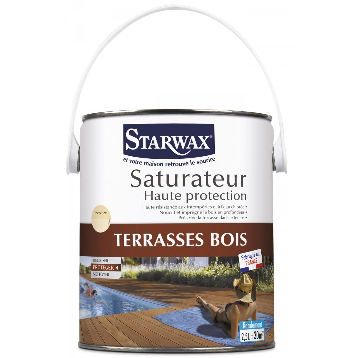 Protection terrasses bois Starwax - Bidon 2,5 l