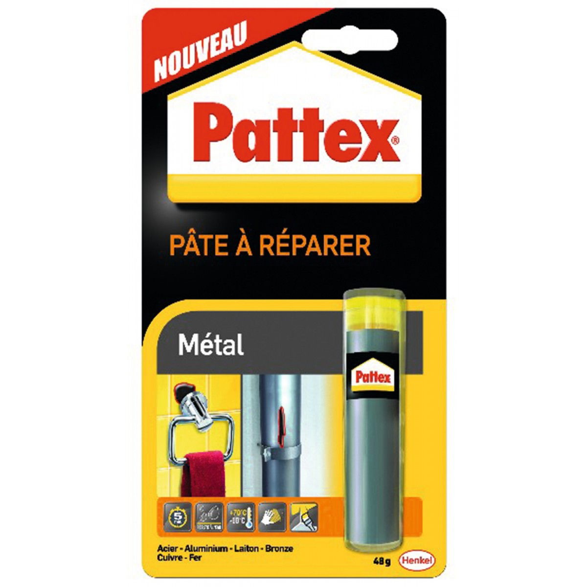 Repair Express métal Pattex - Tube 48 g