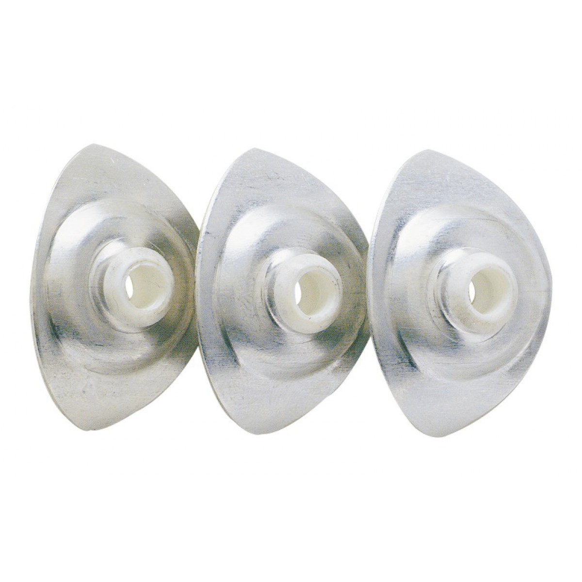 Plaquette ovale pour plaque translucide - Longueur 40 mm - Largeur 28 mm - Epaisseur 8 mm - Vendu par 100