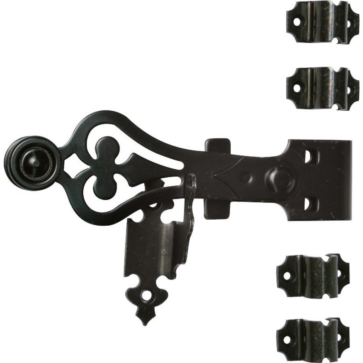 Espagnolette ronde Terroir Torbel - Sachet accessoires - Noire