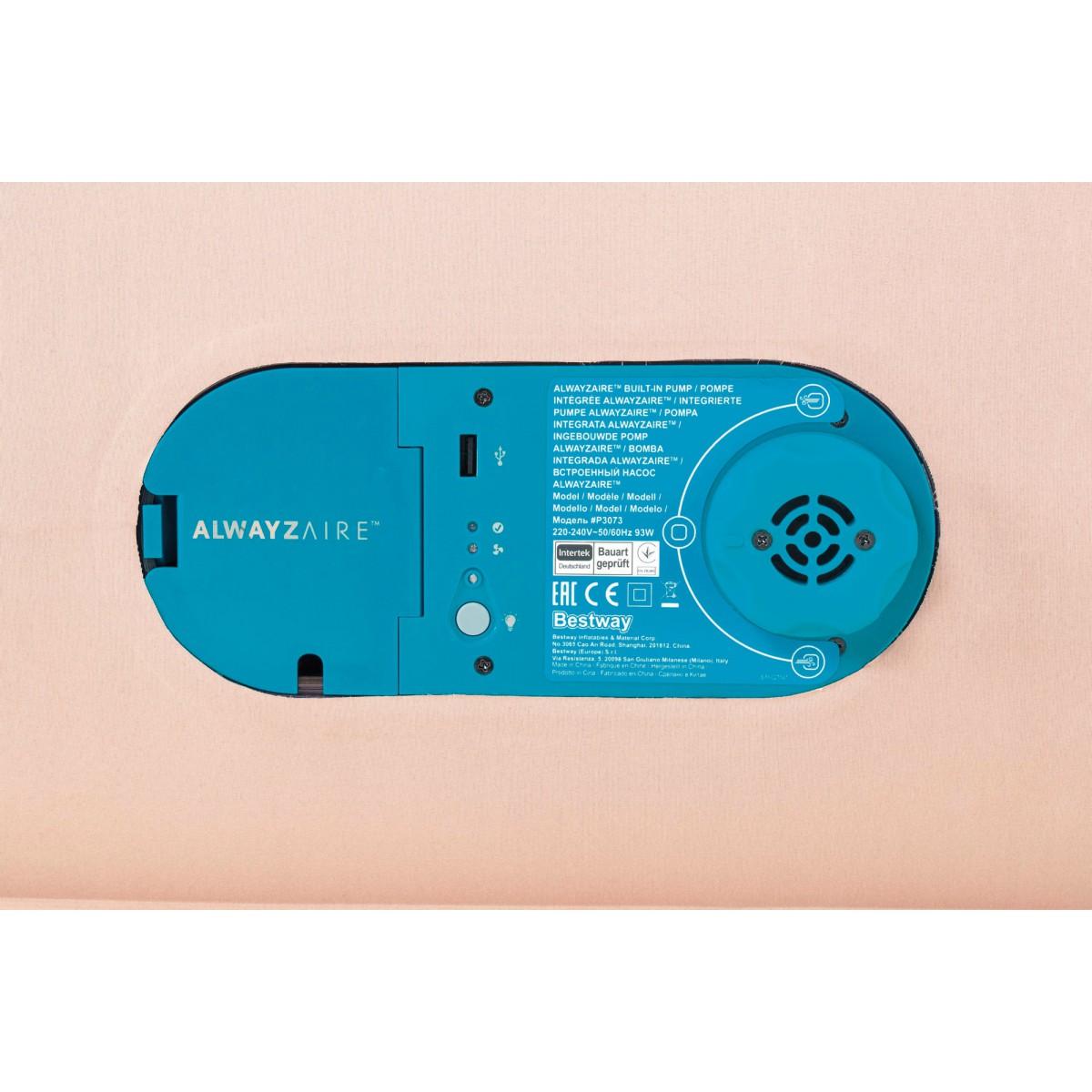 Lit gonflable matelas confort AlwayzAire Bestway - 2 places  - 203 x 152 x 51 cm