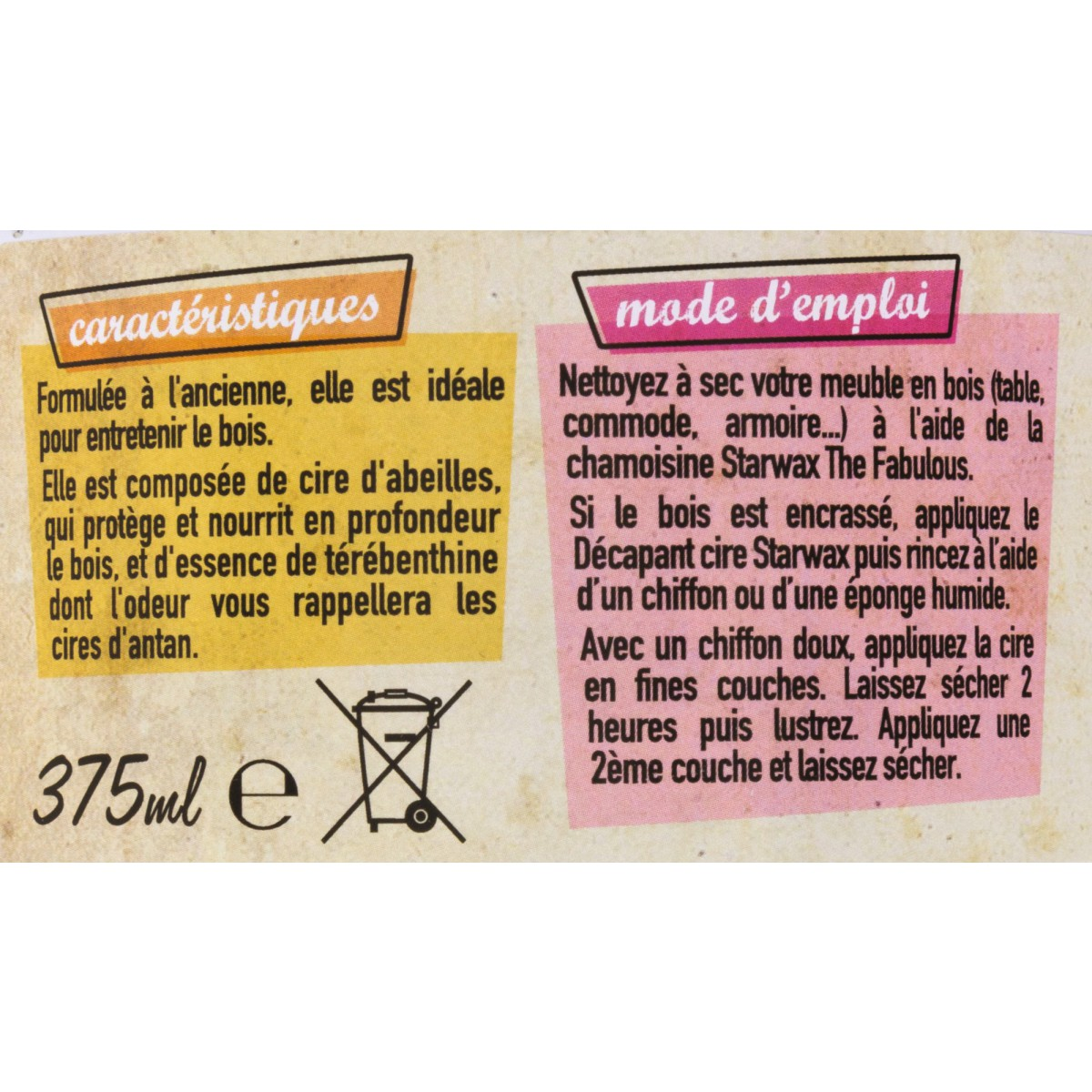 Cire des antiquaires Starwax The Fabulous - 375 ml